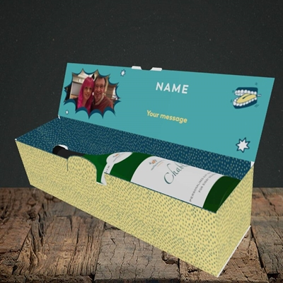 Picture of Terrible Dad Jokes, Father's Day Design, Lay-down Bottle Box