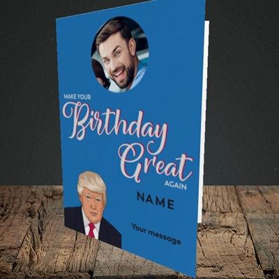 Picture of A Trump Birthday, Birthday Design, Portrait Greetings Card