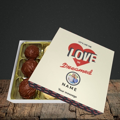 Picture of Let's Live The Love, Valentine Design, Choc 9