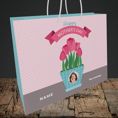 Picture of Flowers On The Table, Mother's Day Design, Medium Landscape Gift Bag