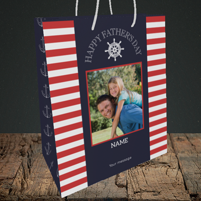Picture of Nautical, Father's Day Design, Medium Portrait Gift Bag