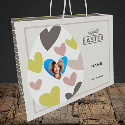 Picture of Egg Of Hearts, Easter Design, Medium Landscape Gift Bag
