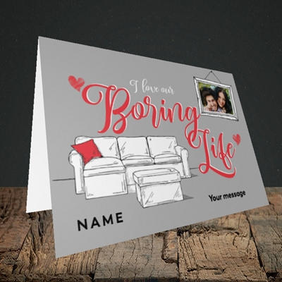 Picture of Boring Life, Valentine's Design, Landscape Greetings Card