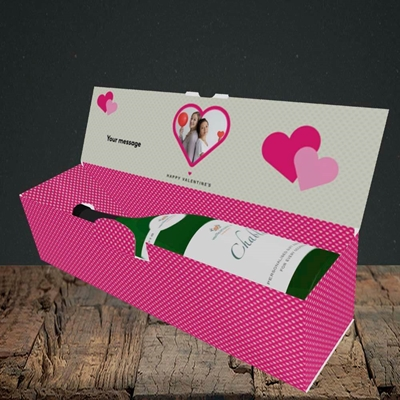Picture of Heart Multi Photo, Valentine's Design, Lay-down Bottle Box