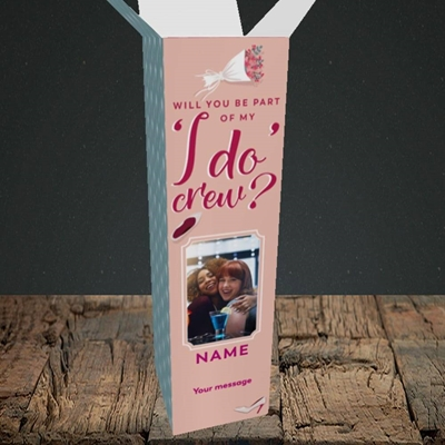 Picture of I Do Crew, Wedding Design, Upright Bottle Box