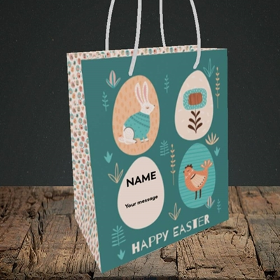 Picture of Easter Egg Farm(Without Photo), Easter Design, Small Portrait Gift Bag