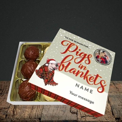 Picture of Pigs In Blankets, Christmas Design, Choc 9