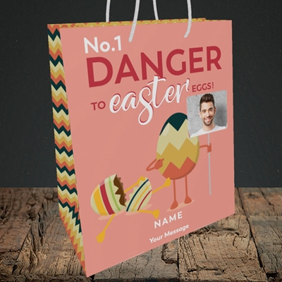 Picture of No.1 Danger, Easter Design, Medium Portrait Gift Bag