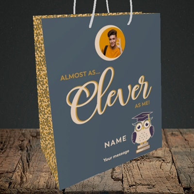 Picture of Clever as Me, Graduation Design, Medium Portrait Gift Bag