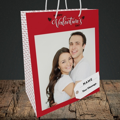 Picture of 1.A Valentine's Large Photo, Valentine's Design, Medium Portrait Gift Bag