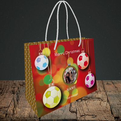 Picture of Christmas Baubles, Christmas Design, Small Landscape Gift Bag