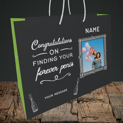 Picture of Forever, Engagement Design, Medium Landscape Gift Bag