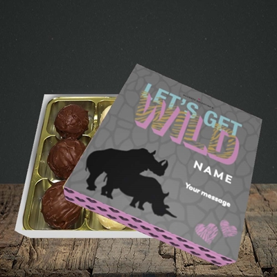 Picture of Let's Get Wild(Without Photo), Valentine's Design, Choc 9