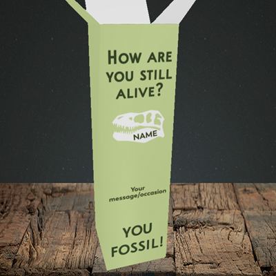 Picture of Fossil, (Without Photo) Birthday Design, Upright Bottle Box