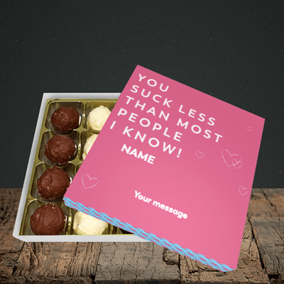 Picture of Suck Less, (Without Photo) Valentine Design, Choc 16