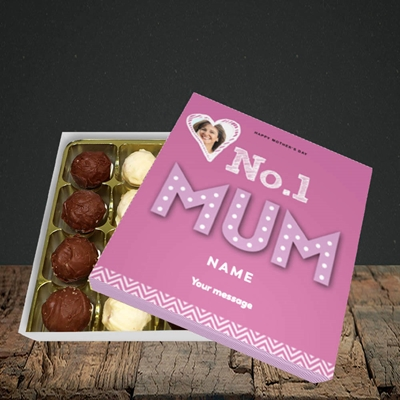 Picture of No.1 Mum (In Lights), Mother's Day Design, Choc 16