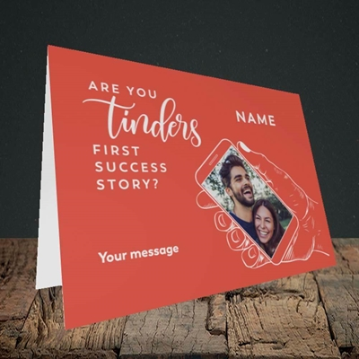 Picture of Tinder, Wedding Design, Landscape Greetings Card