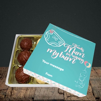 Picture of Wiping My Bum(Without Photo), Mother's Day Design, Choc 9