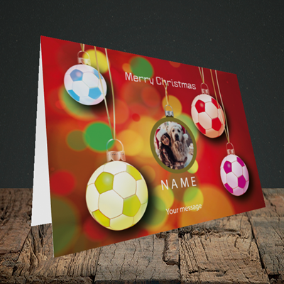 Picture of Christmas Baubles, Christmas Design, Landscape Greetings Card