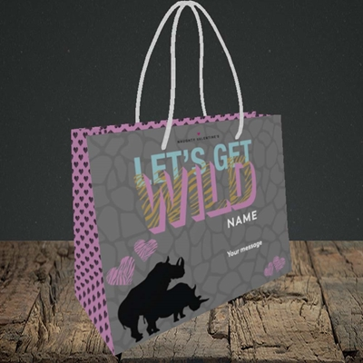 Picture of Let's Get Wild(Without Photo), Valentine's Design, Small Landscape Gift Bag