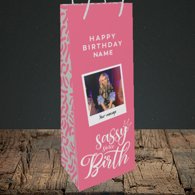 Picture of Sassy, Birthday Design, Bottle Bag