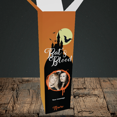 Picture of Vampire, Halloween Design, Upright Bottle Box