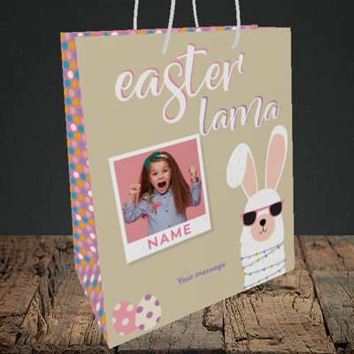 Picture of Easter Lama, Easter Design, Medium Portrait Gift Bag