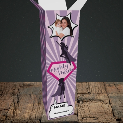 Picture of Mighty Mum, Mother's Day Design, Upright Bottle Box