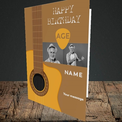 Picture of Acoustic Age, Birthday Design, Portrait Greetings Card