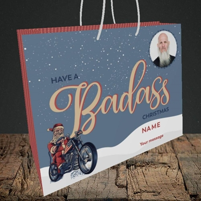 Picture of Badass, Christmas Design, Medium Landscape Gift Bag