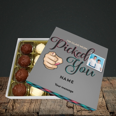 Picture of Mum Picked You, Father's Day Design, Choc 16