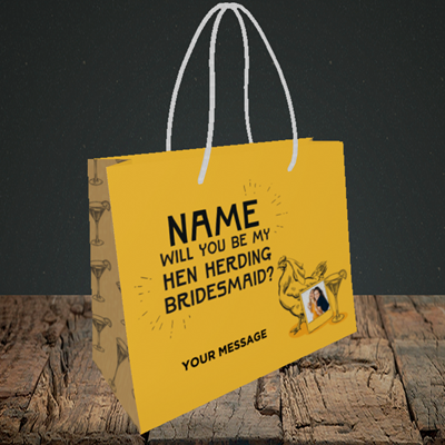 Picture of Hen, Engagement Design, Small Landscape Gift Bag