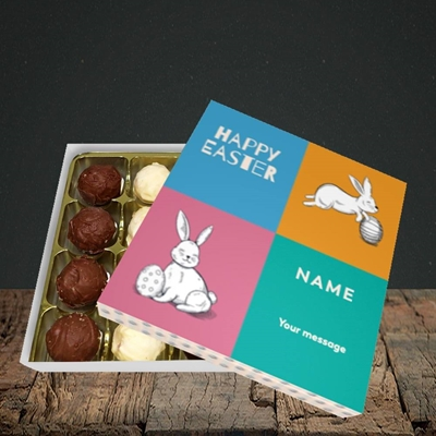Picture of 4 Colour Bunnies(Without Photo), Easter Design, Choc 16