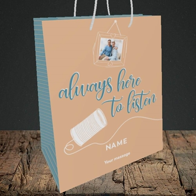 Picture of Always Here, Thinking of You Design, Medium Portrait Gift Bag