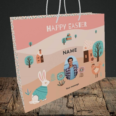 Picture of Easter Farm, Easter Design, Medium Landscape Gift Bag