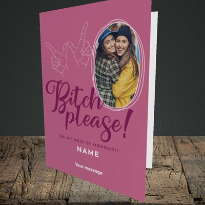 Picture of Bitch Please!, Wedding Design, Portrait Greetings Card