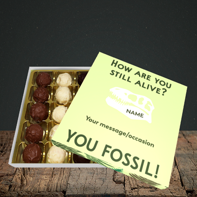 Picture of Fossil, (Without Photo) Birthday Design, Choc 25