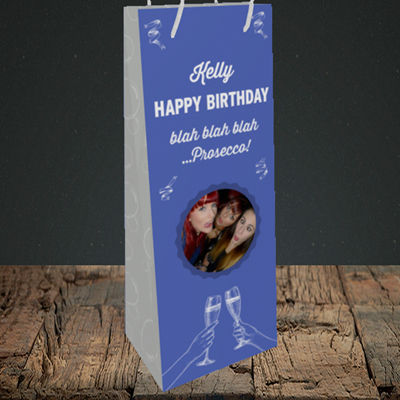 Picture of Blah, Birthday Design, Bottle Bag