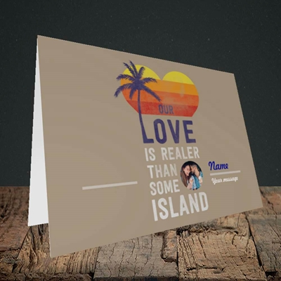 Picture of Our Love Is Realer, Valentine's Design, Landscape Greetings Card