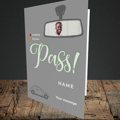 Picture of Mirror Signal Pass, Celebration Design, Portrait Greetings Card