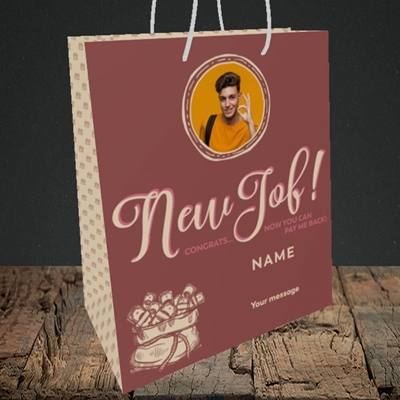 Picture of Pay Me Back, New Job Design, Medium Portrait Gift Bag