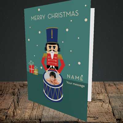 Picture of Drummer Boy, Christmas Design, Portrait Greetings Card