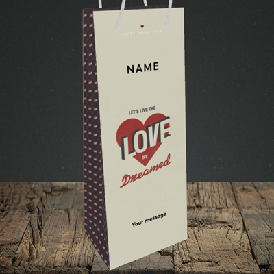 Picture of let's live the love (Without Photo), Valentine's Design, Bottle Bag
