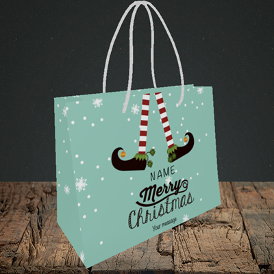 Picture of Elf, (Without Photo) Christmas Design, Small Landscape Gift Bag