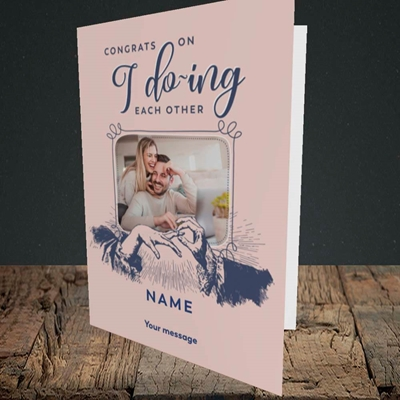 Picture of I Do-ing, Wedding Design, Portrait Greetings Card