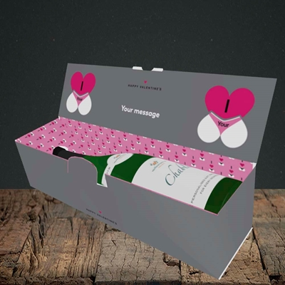 Picture of I Love Your Bum(Without Photo), Valentine's Design, Lay-down Bottle Box