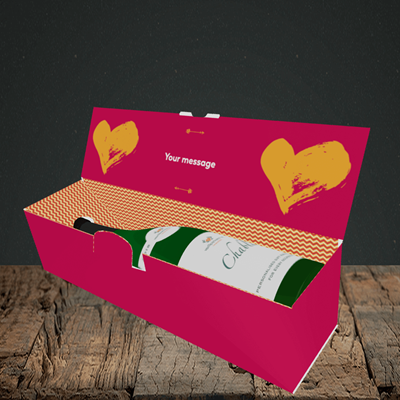 Picture of Love You Even When, (Without Photo) Valentine's Design, Lay-down Bottle Box