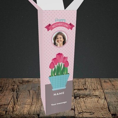 Picture of Flowers On The Table, Mother's Day Design, Mother's Day Design, Upright Bottle Box