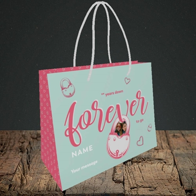 Picture of Forever To Go, Anniversary Design, Small Landscape Gift Bag
