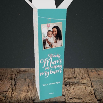 Picture of Wiping My Bum, Mother's Day Design, Upright Bottle Box